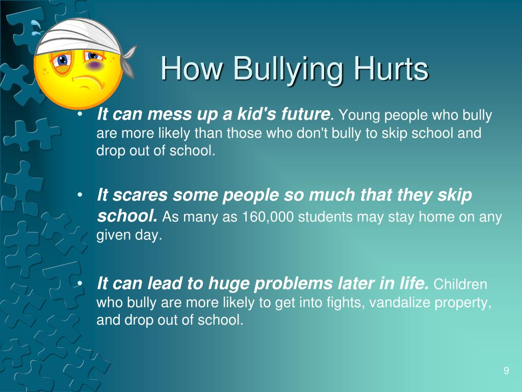 How Bullying Hurts