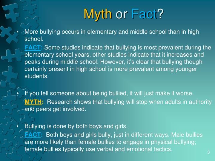 Myth or fact3