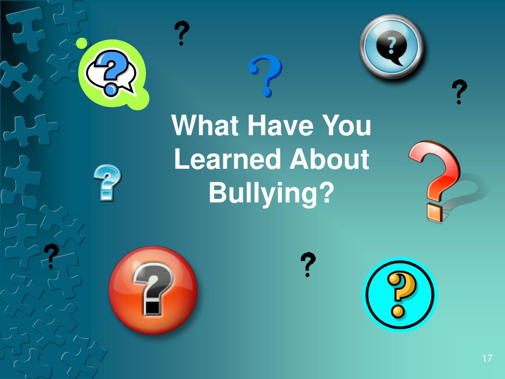 What Have You Learned About Bullying?