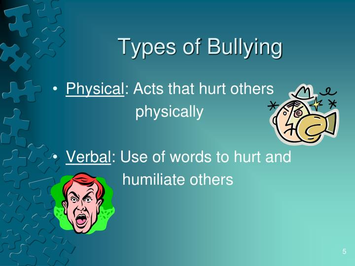 types of bullying Do you understand the different types of bullying in schools here's a quick and dirty guide.