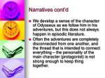 narratives cont d