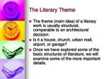 the literary theme