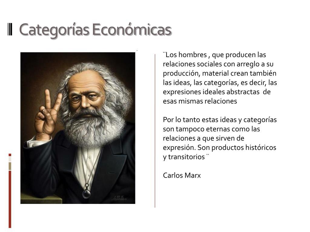 Categorías Económicas