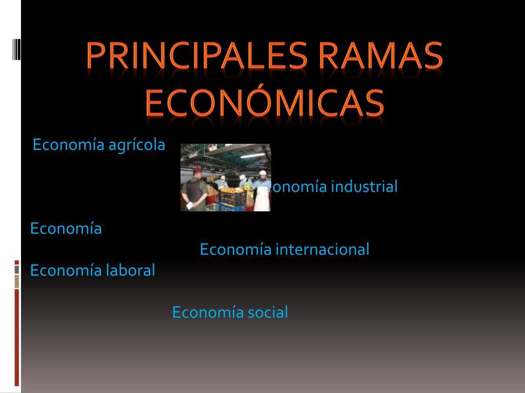 Principales ramas económicas