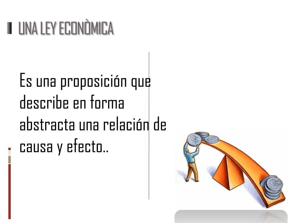 UNA LEY ECONÒMICA