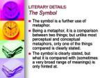 literary details the symbol
