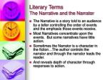 literary terms the narrative and the narrator