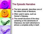 the episodic narrative