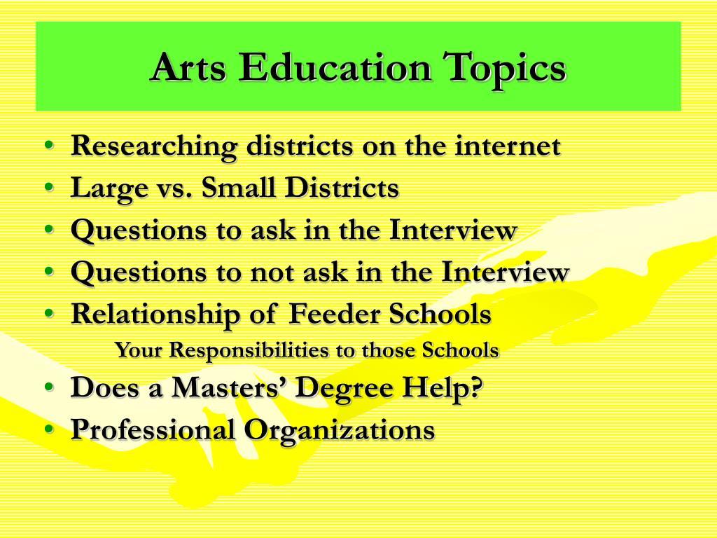 Arts Education Topics