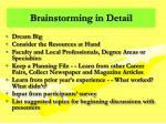 brainstorming in detail