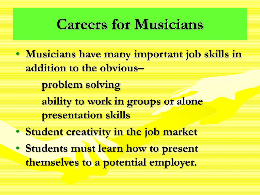 Careers for Musicians