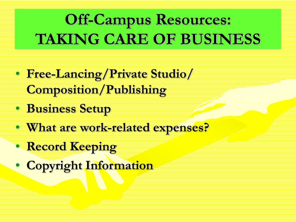 Off-Campus Resources: