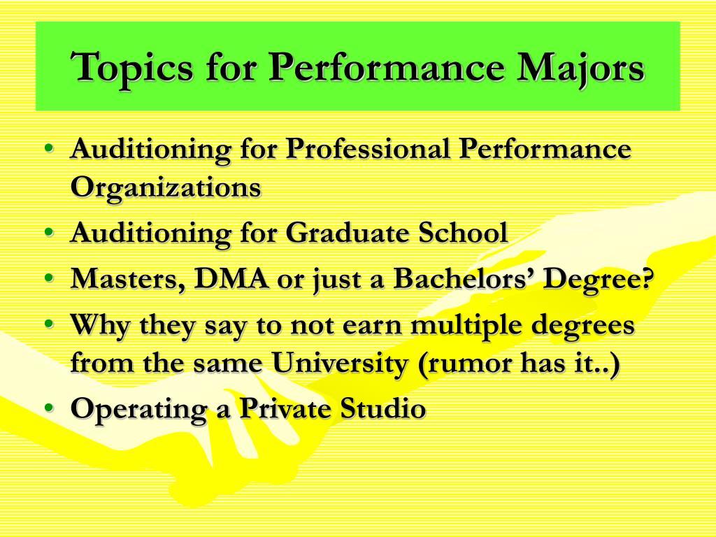 Topics for Performance Majors