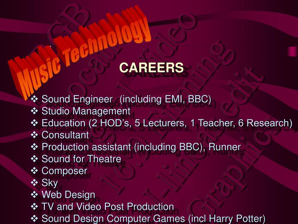 Sound Engineer(including EMI, BBC)