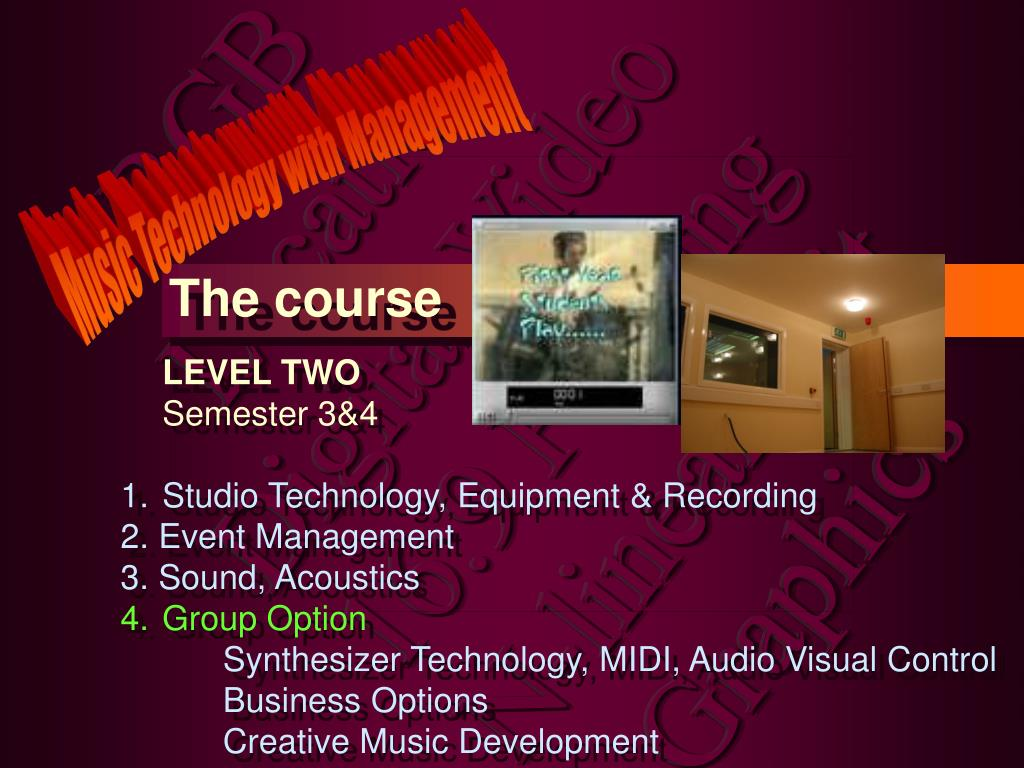 Music Technology with Management