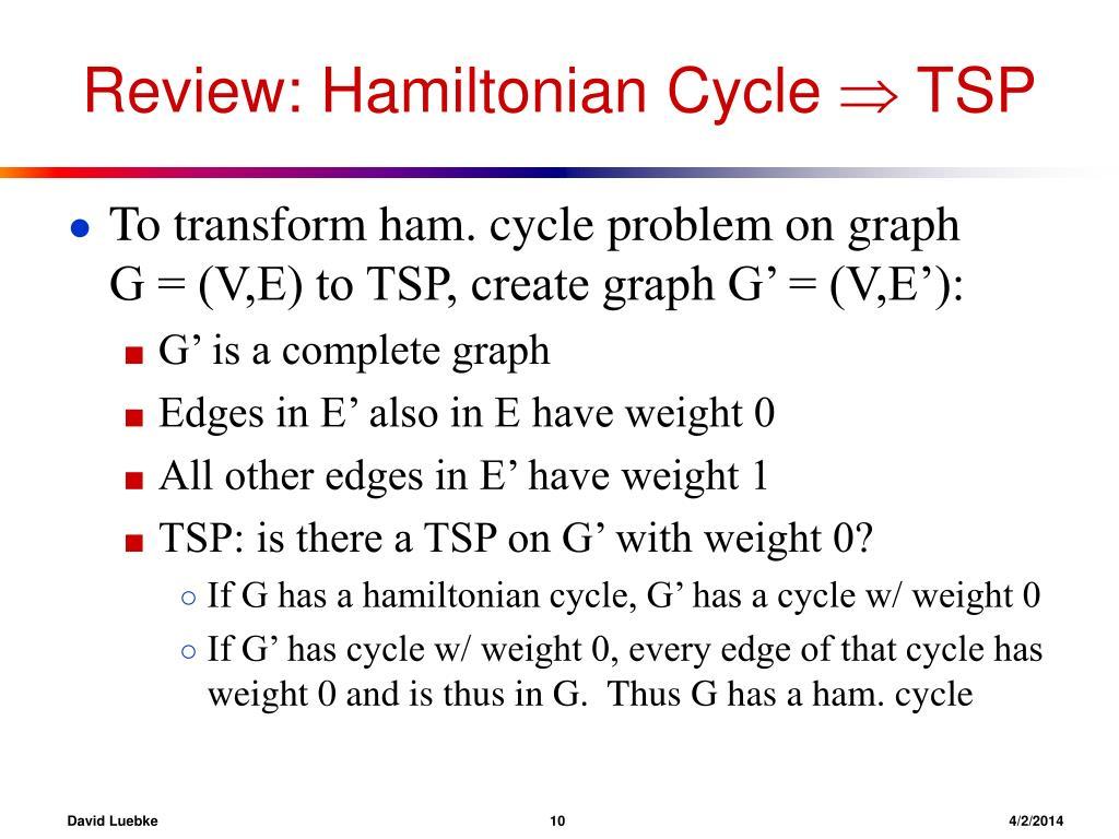 Review: Hamiltonian Cycle