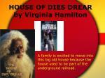 house of dies drear by virginia hamilton