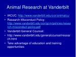 animal research at vanderbilt