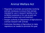 animal welfare act