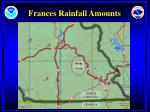 frances rainfall amounts