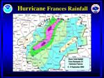 hurricane frances rainfall
