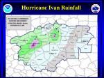 hurricane ivan rainfall