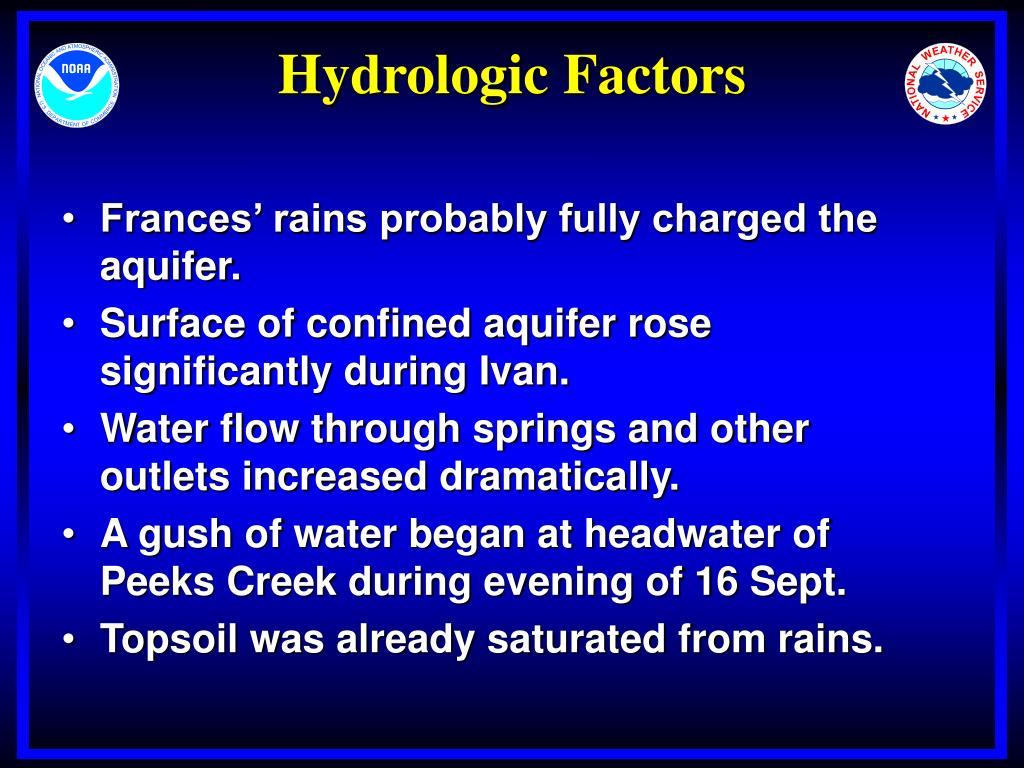 Hydrologic Factors