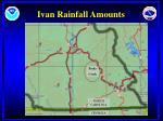 ivan rainfall amounts