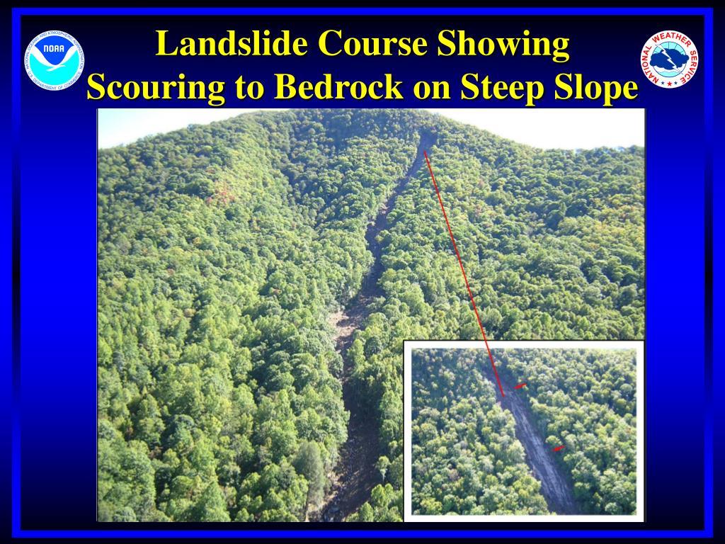 Landslide Course Showing