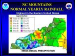 nc mountains normal yearly rainfall