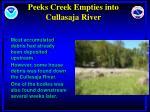 peeks creek empties into cullasaja river
