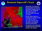 remnant supercell s track