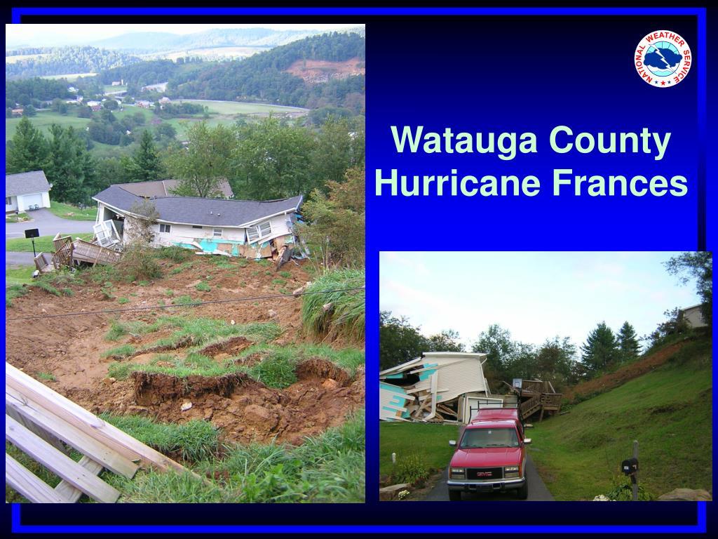Watauga County Hurricane Frances