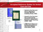 accepted reference guides for animal care and use