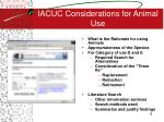 iacuc considerations for animal use
