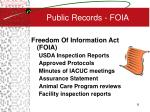public records foia