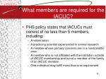 what members are required for the iacuc