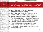 who s on the iacuc at ncsu
