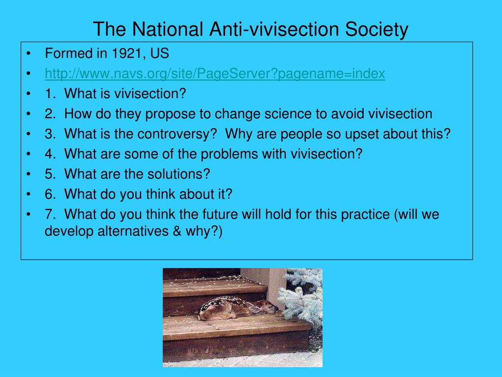 The National Anti-vivisection Society