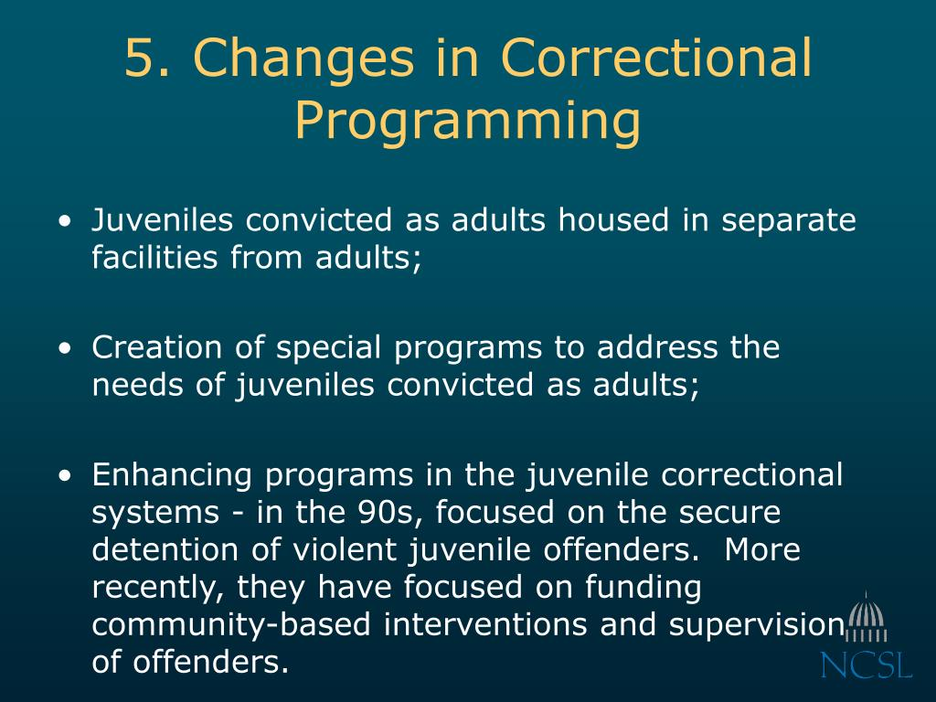 5. Changes in Correctional Programming