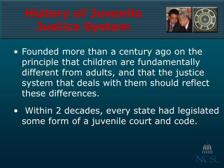 History of juvenile justice system