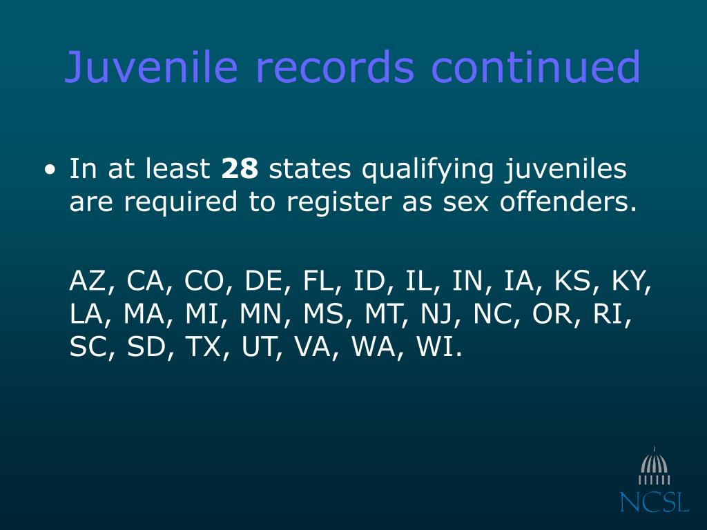 Juvenile records continued