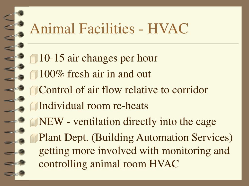 Animal Facilities - HVAC