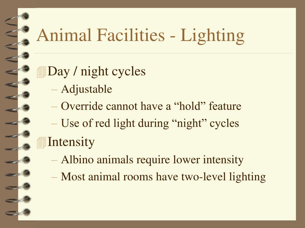 Animal Facilities - Lighting