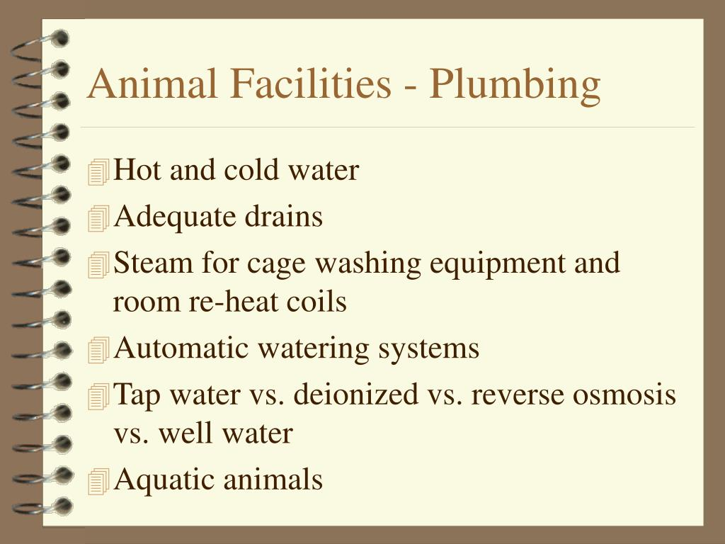 Animal Facilities - Plumbing