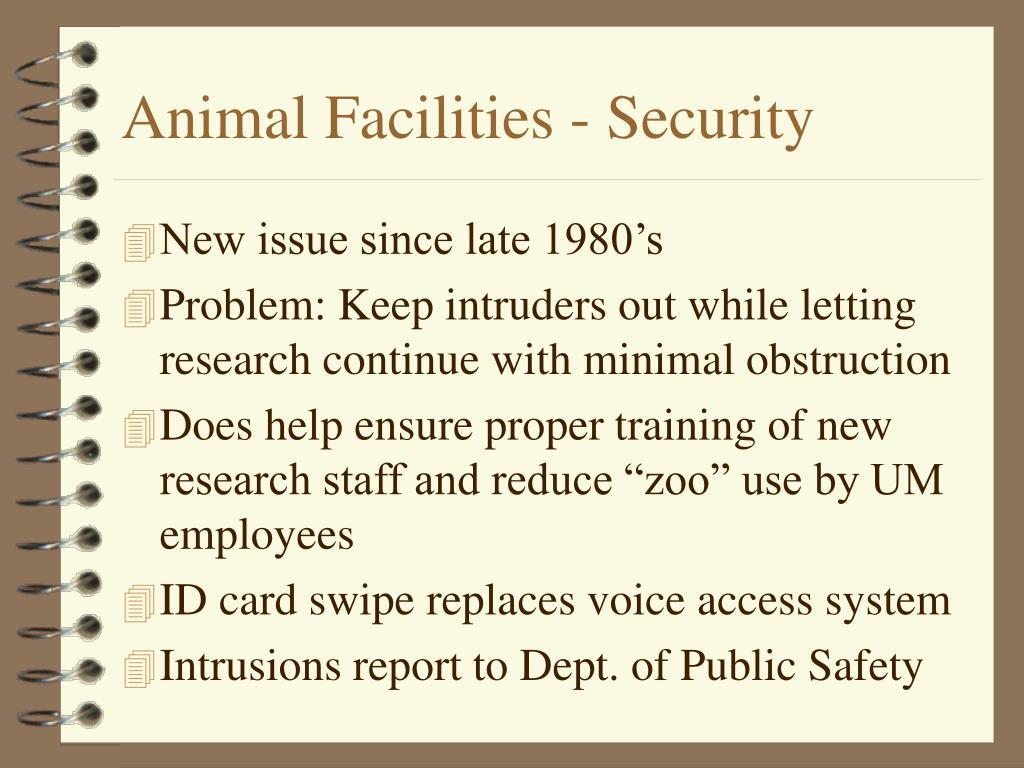 Animal Facilities - Security