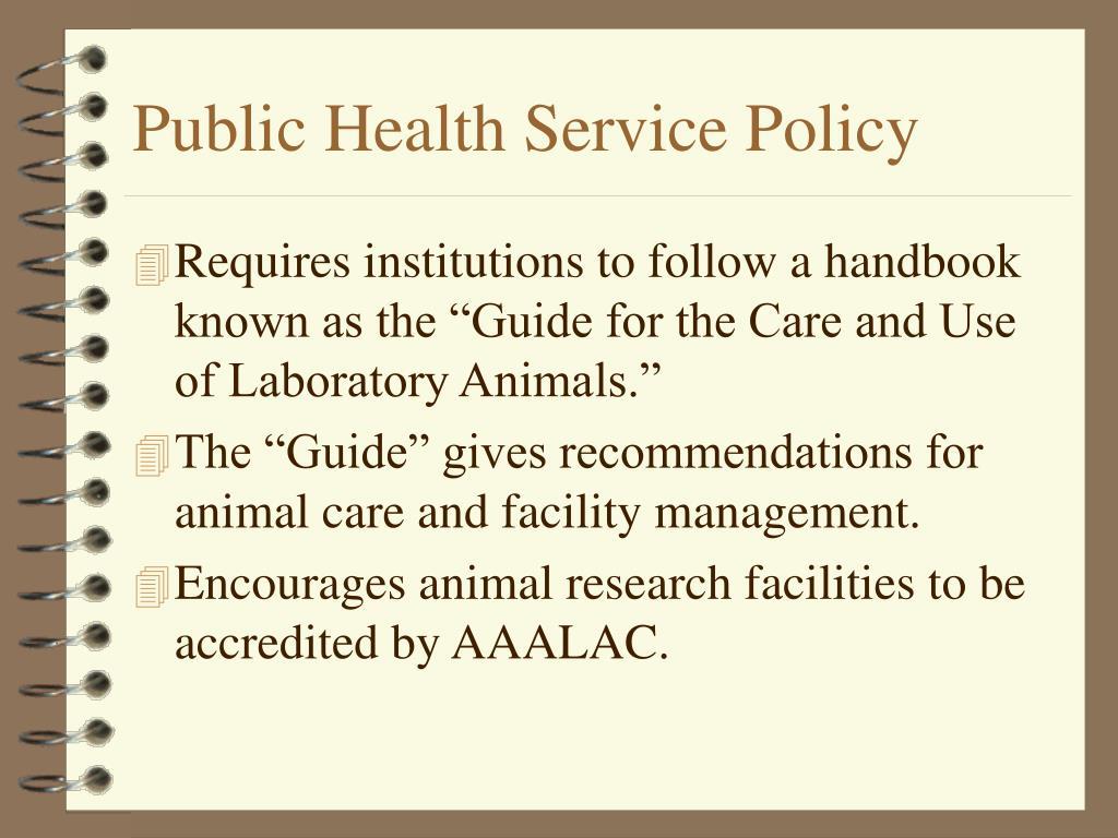 Public Health Service Policy