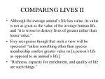 comparing lives ii