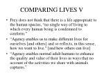 comparing lives v