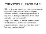 the central problem ii